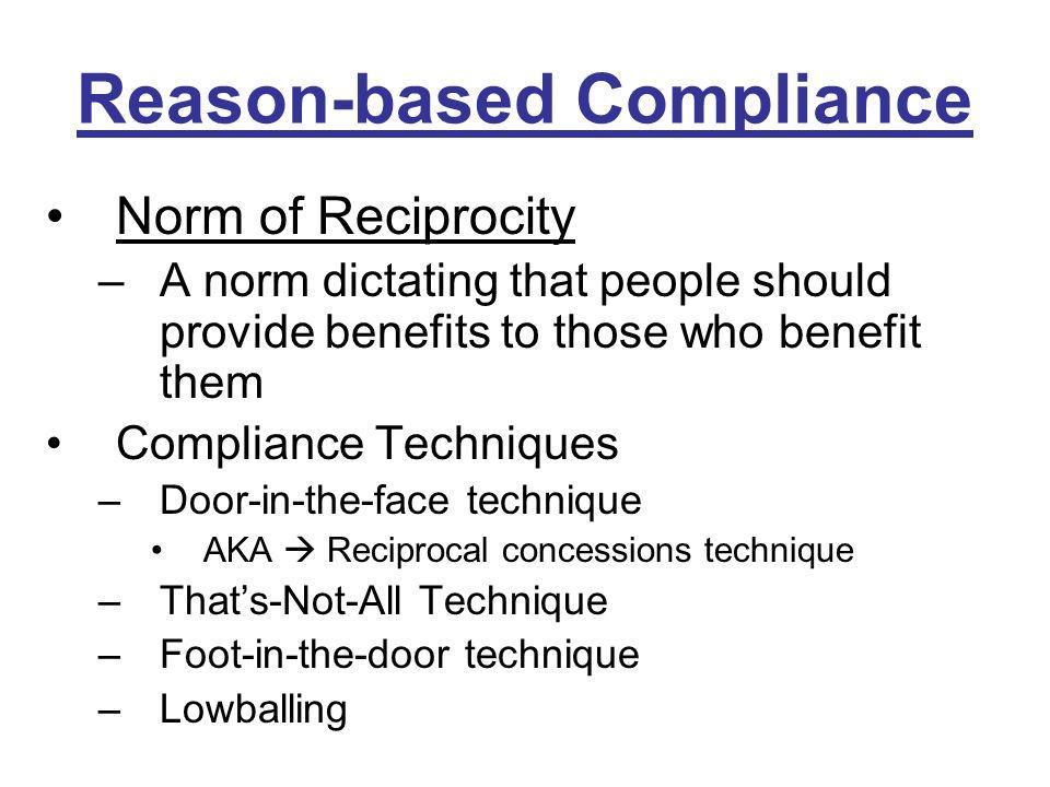 Reciprocity Norm Definition