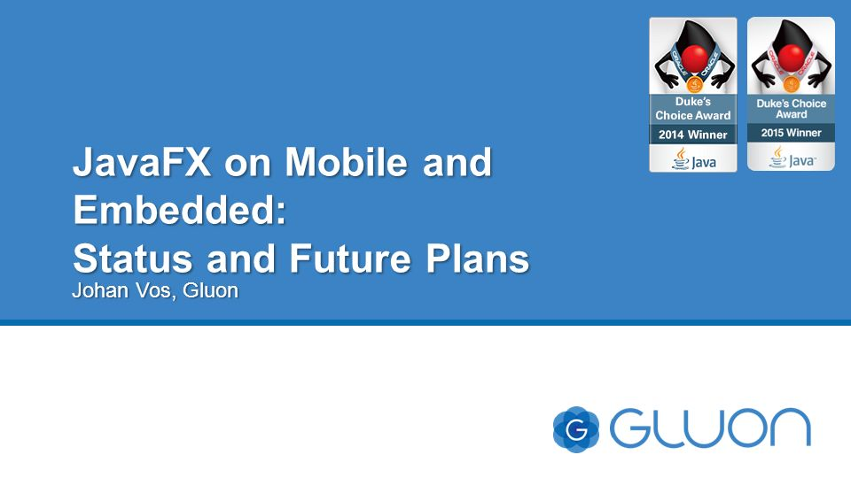 JavaFX on Mobile and Embedded: Status and Future Plans - ppt video