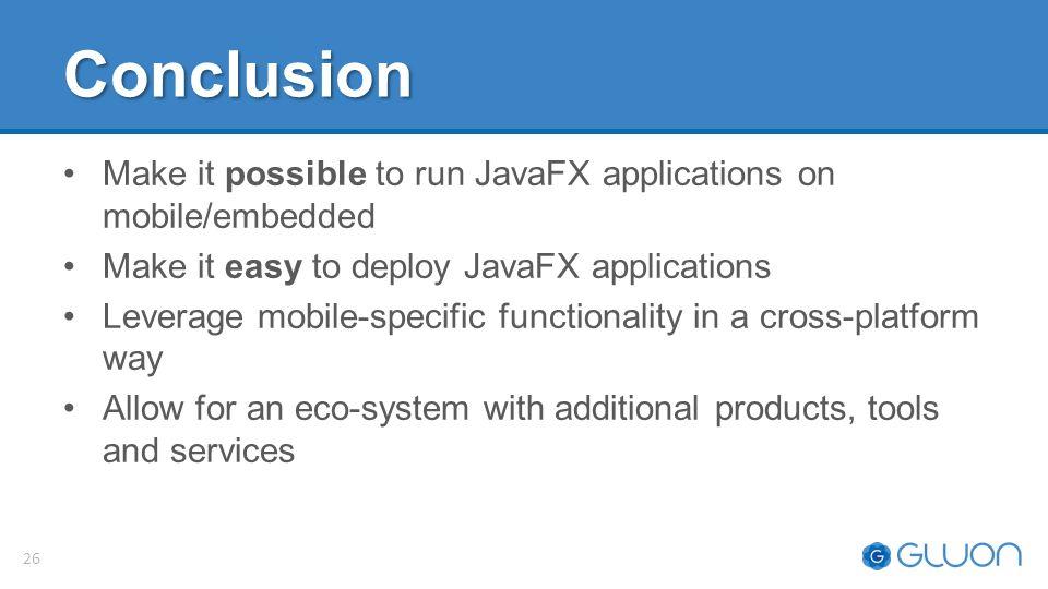 JavaFX on Mobile and Embedded: Status and Future Plans - ppt