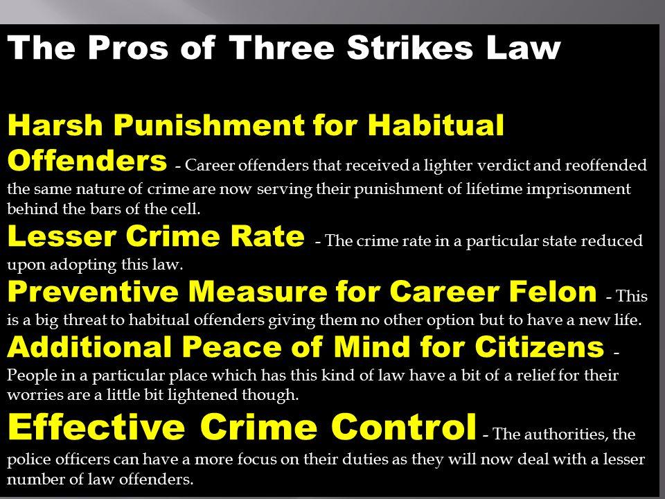 three strikes law cons