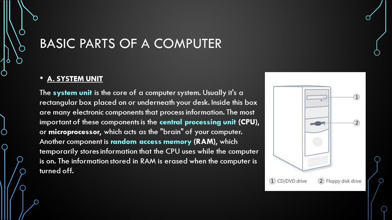 Lesson 3: Basic Parts and Functions of Computer - ppt video online ...
