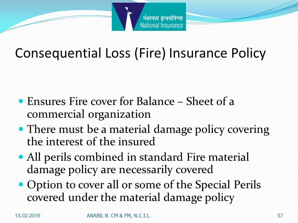 Fire Insurance Anabil Bhattacharya Chief Manager Faculty Member