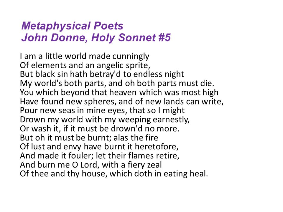 donne holy sonnet 5