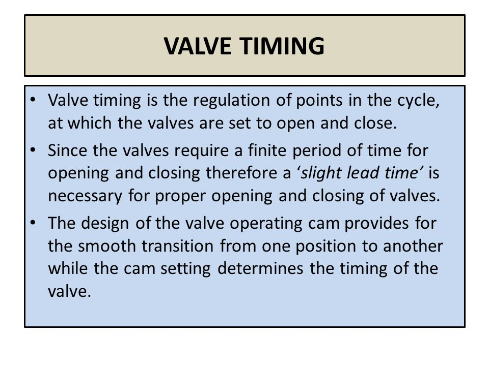 valve timing diagram of four stroke engines  2 valve