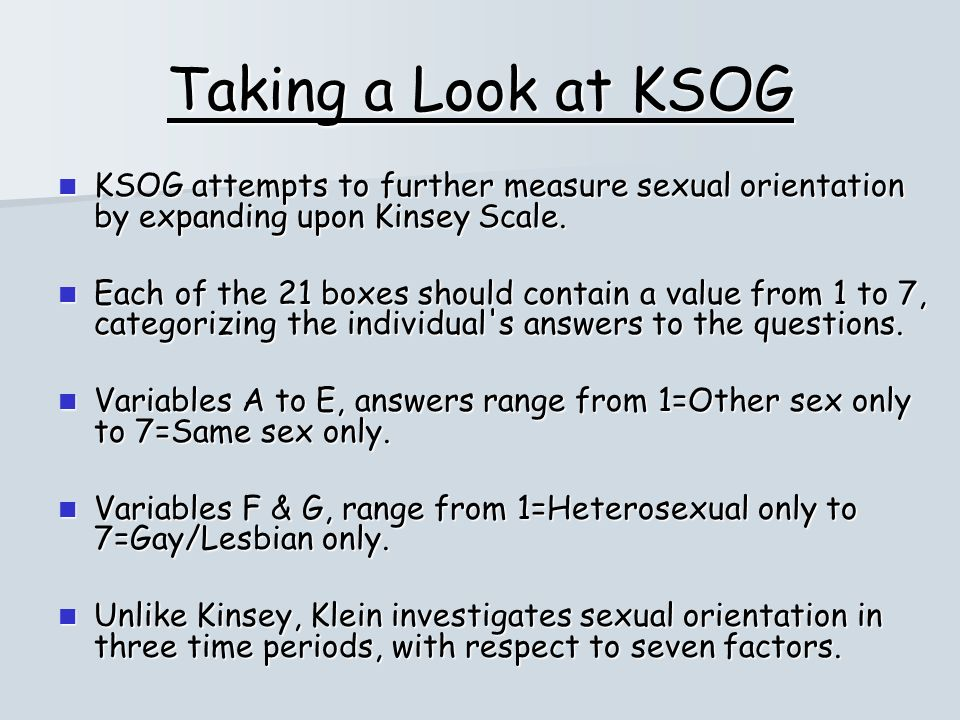Kinsey scale sexuality test online