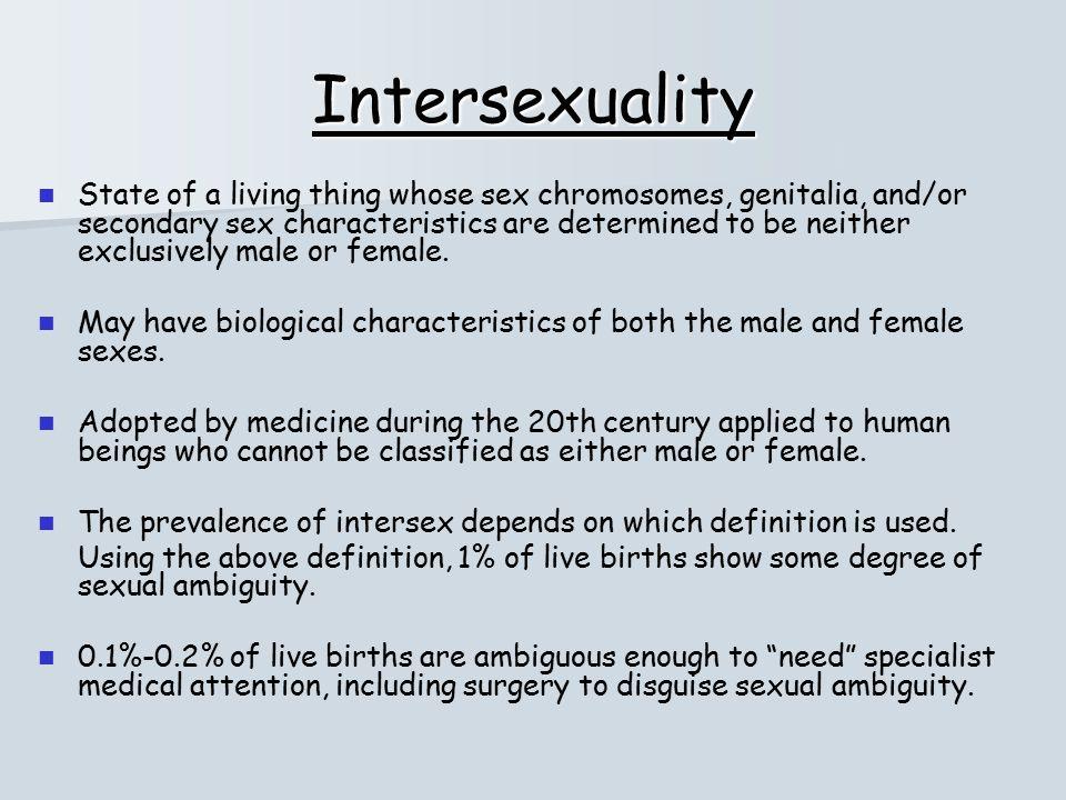 Intersexuals definition