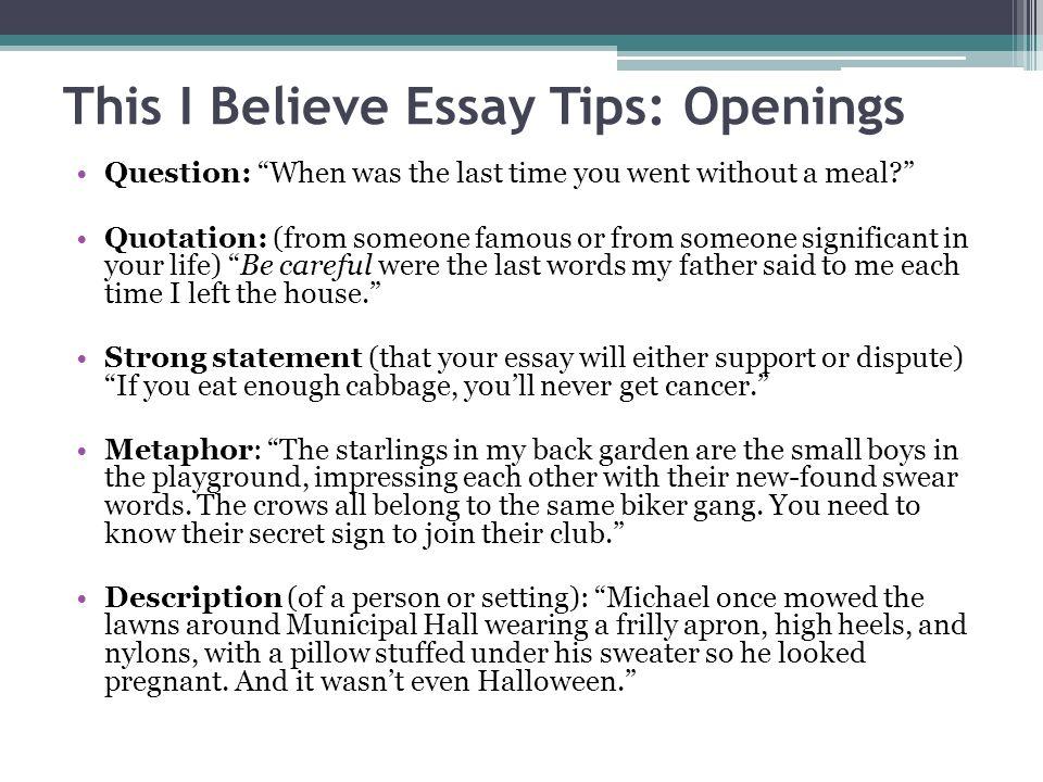 This i believe essay prompt mistyhamel