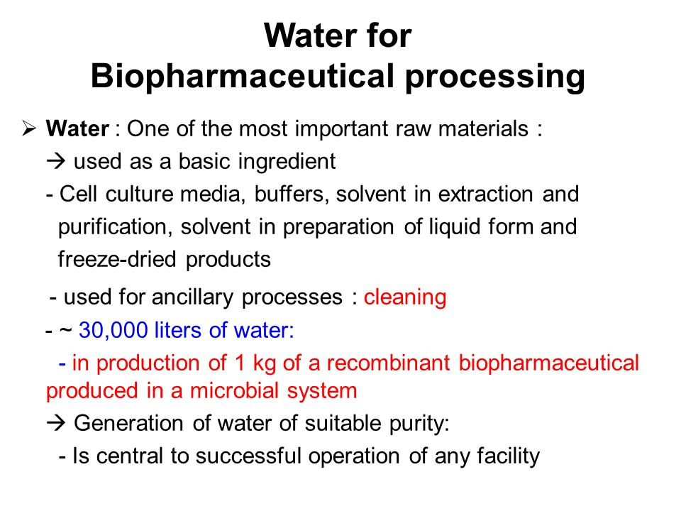 Water Systems In Pharmaceutical Processing Ppt Download