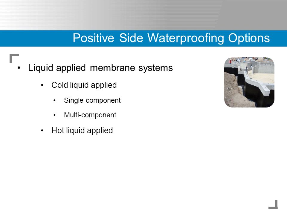 Below Grade Waterproofing Systems and Design - ppt video