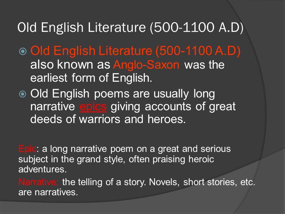 english epic short stories
