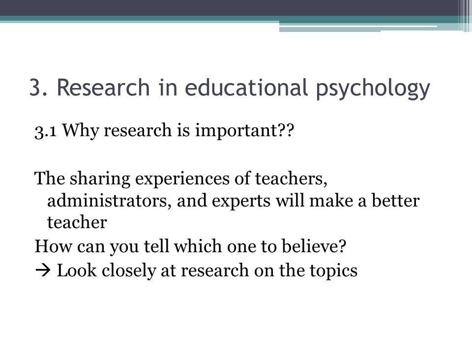 research topics related to psychology