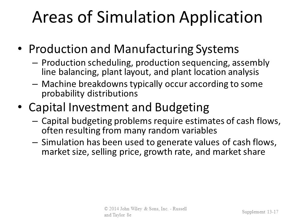Operational Decision-Making Tools: Simulation - ppt download