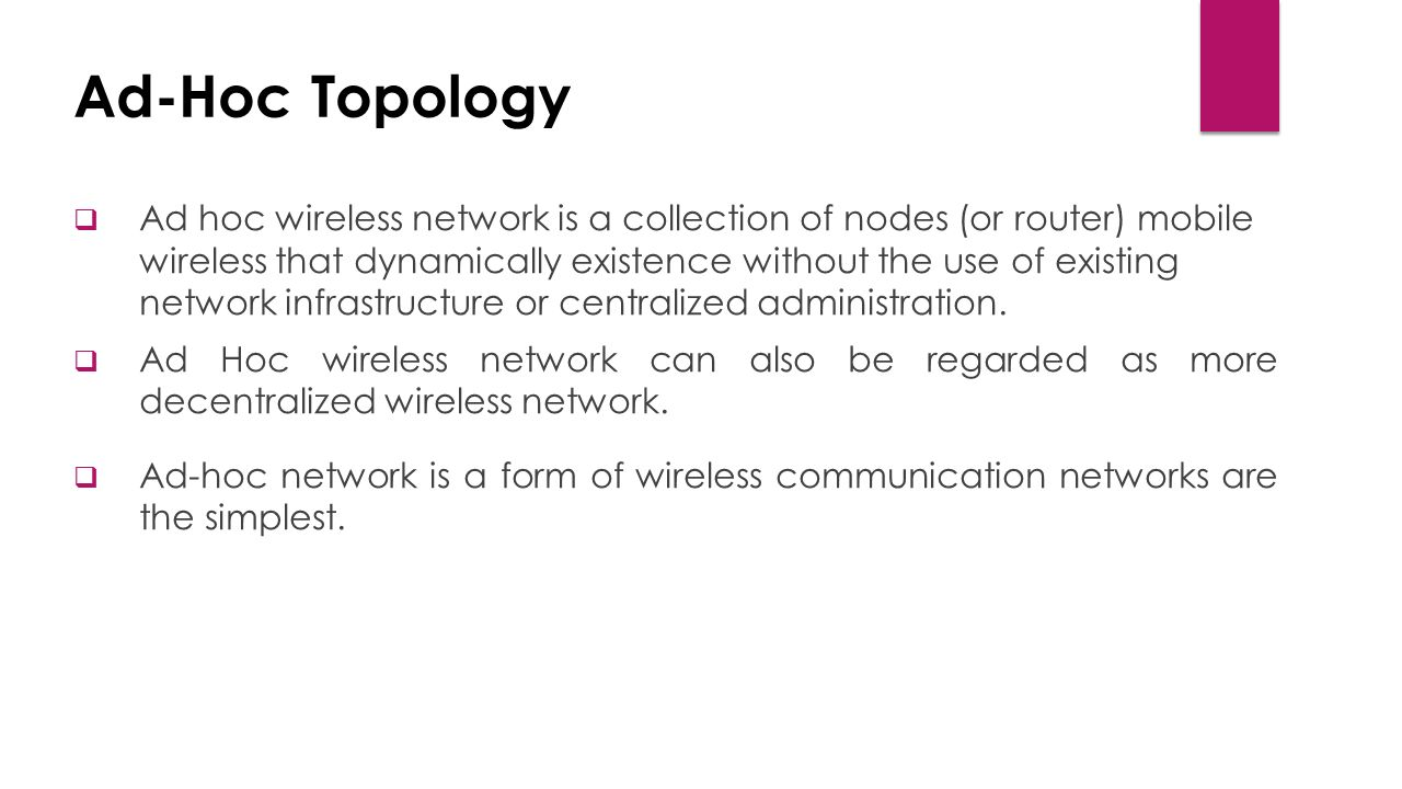 Mobile ad hoc network manet ppt video online download ad hoc topology publicscrutiny Image collections