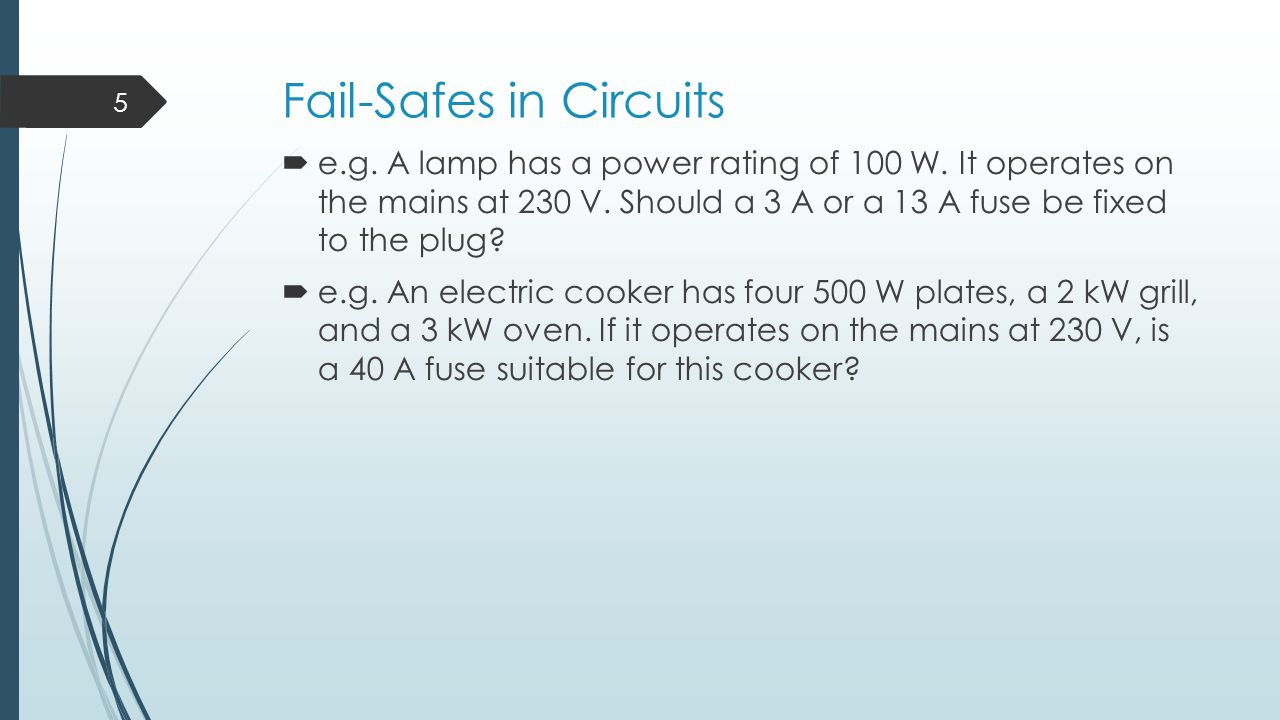 Domestic Circuits Learning Outcomes Ppt Video Online Download Electric Cooker Circuit Fail Safes In