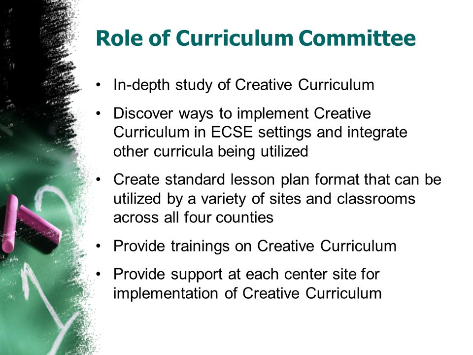 Creative Curriculum Where have we been? Where are we going
