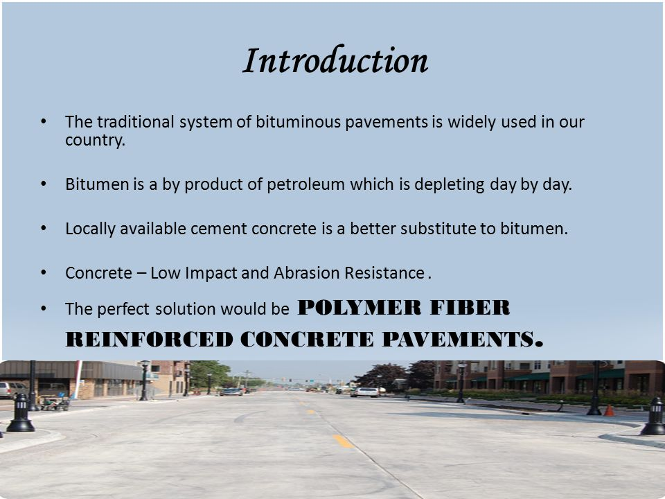POLYMER FIBER REINFORCED CONCRETE PAVEMENT - ppt video