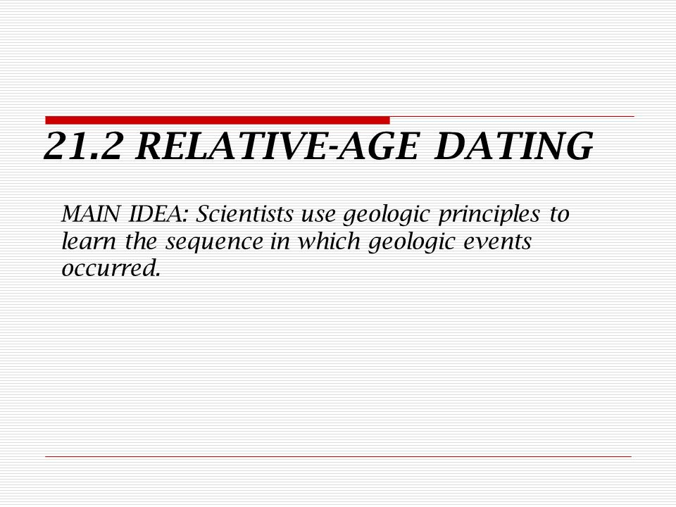 Relative dating is based on the idea that think, that