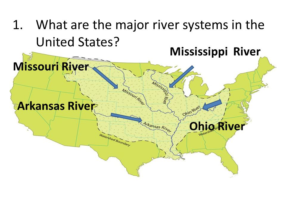 Major Rivers in the United States - ppt video online download
