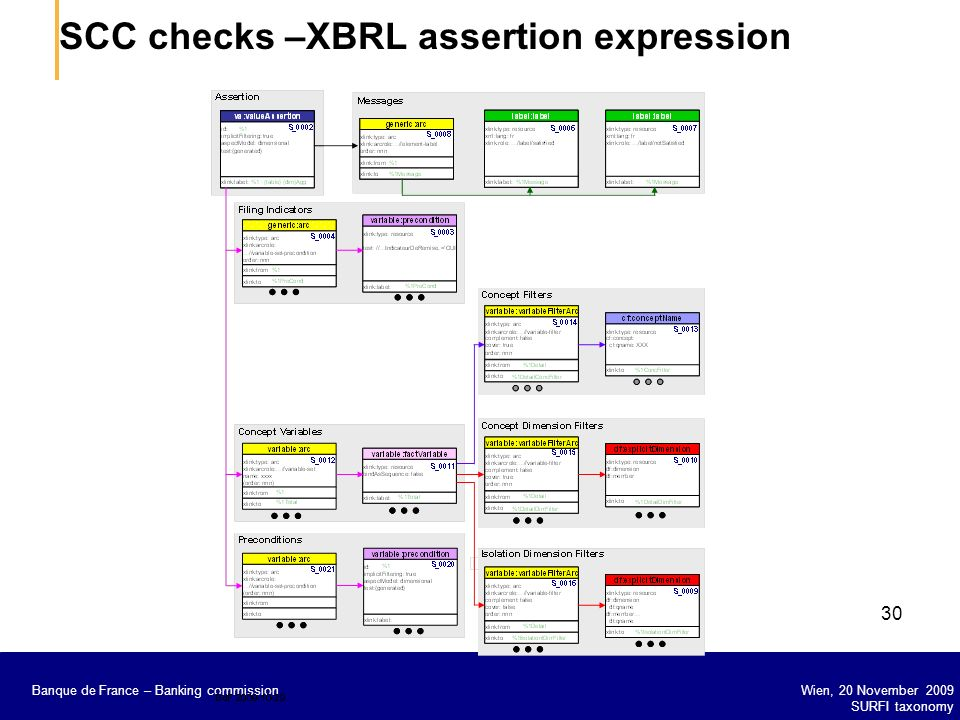 SCC checks –XBRL assertion expression