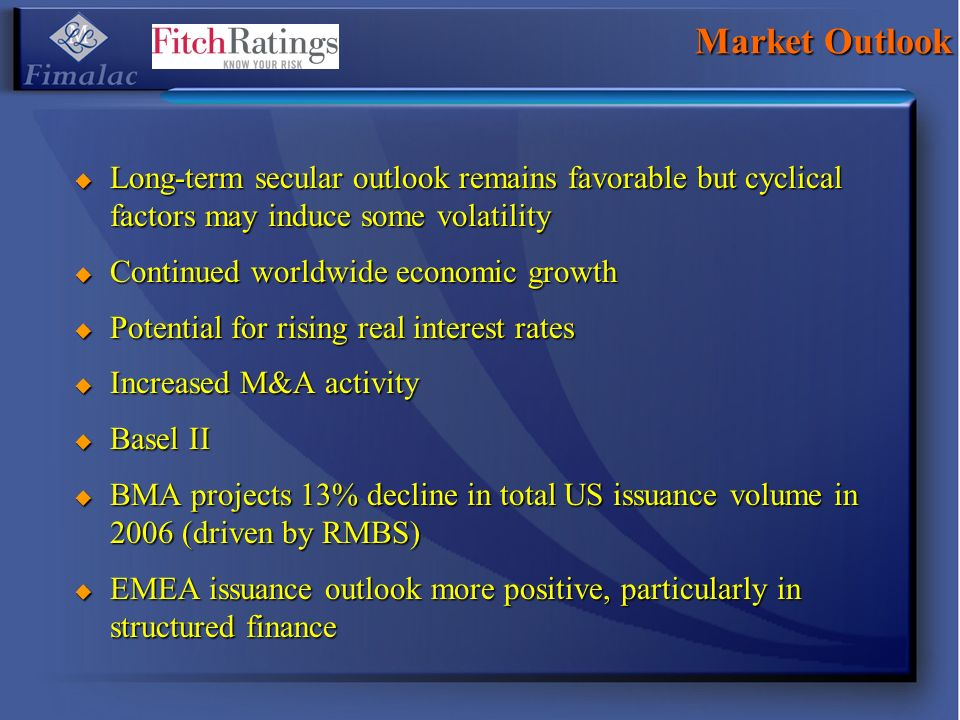 Market Outlook Long-term secular outlook remains favorable but cyclical factors may induce some volatility.