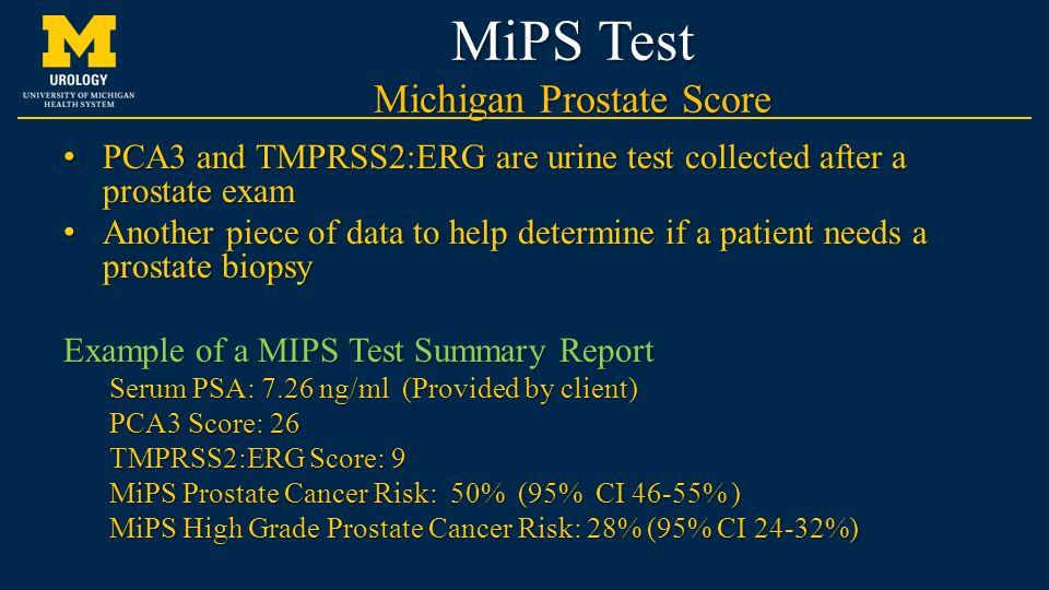 mi prostate score( mips))