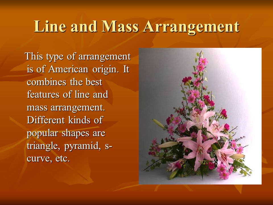 FLOWER ARRANGEMENT Types Selection Of Material And Essential - Best of ppt flowers scheme