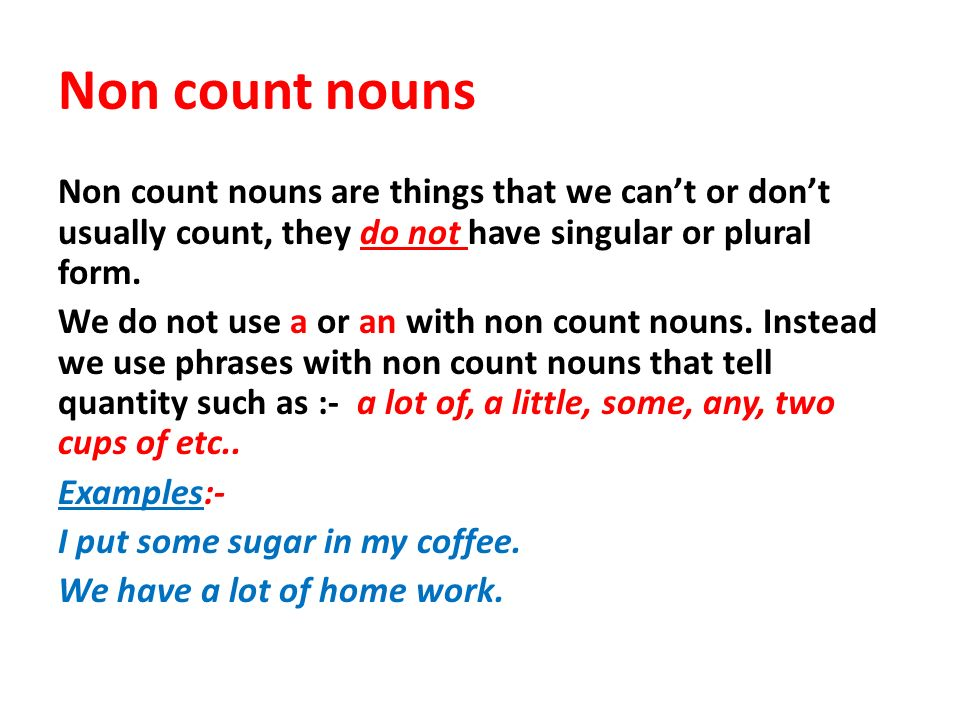 Count and non count nouns - ppt video online download