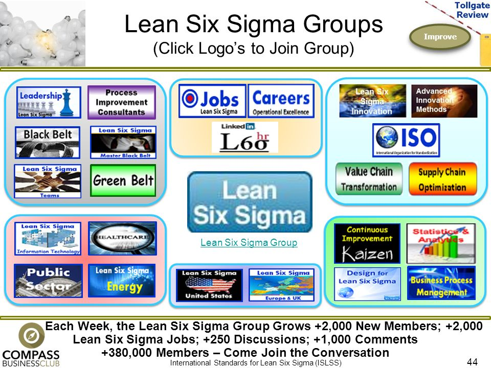 Lean Six Sigma Groups Click Logos To Join Group