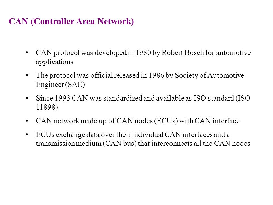 controller area network basics