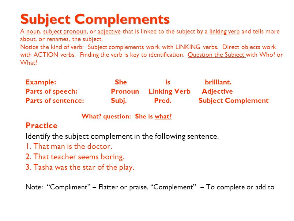 Parts of a Sentence When we study the parts of the sentence we are