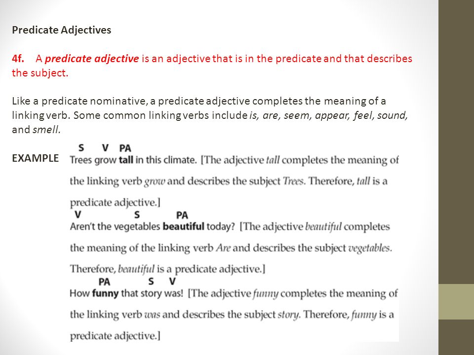 13 Predicate Adjectives: Predicate Nominative Worksheet At Alzheimers-prions.com