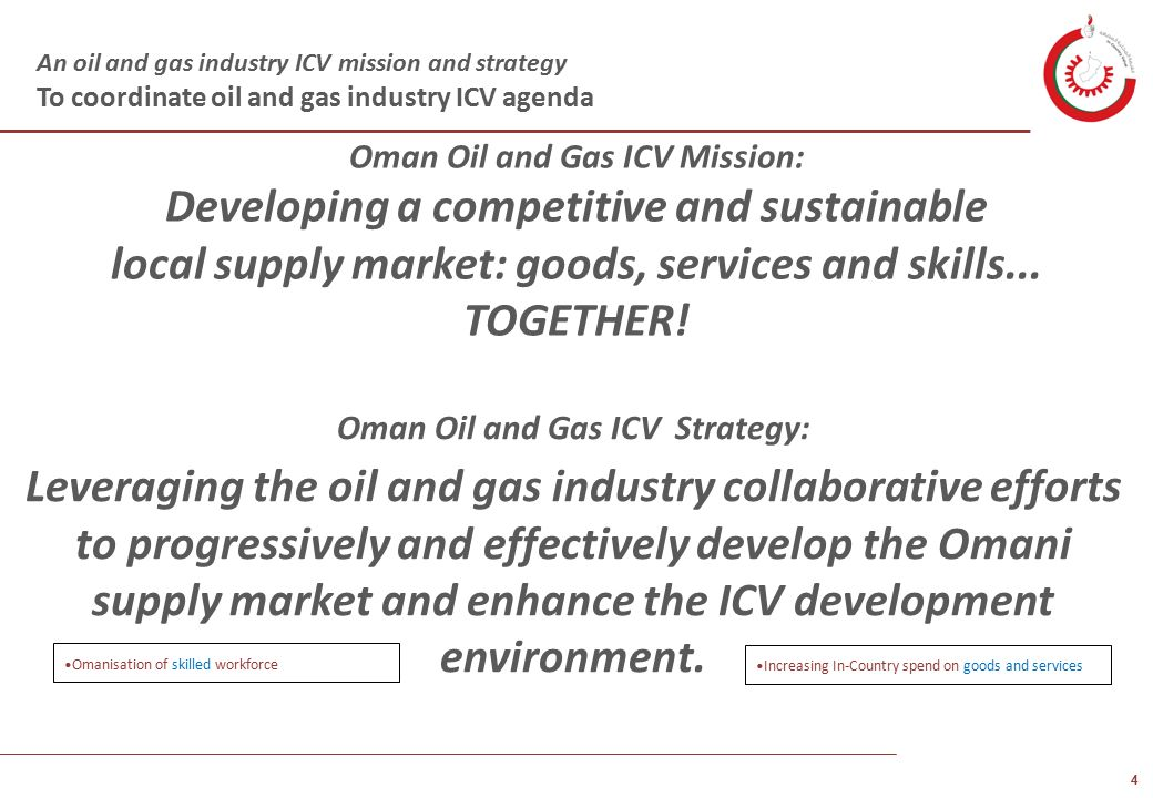 Oman Economic Forum In-Country Value Ministry of Oil and Gas