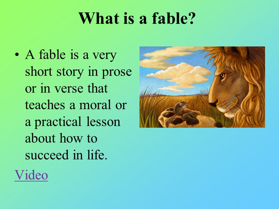 Myths, Folk Tales, Fables, and Fairy Tales - ppt video