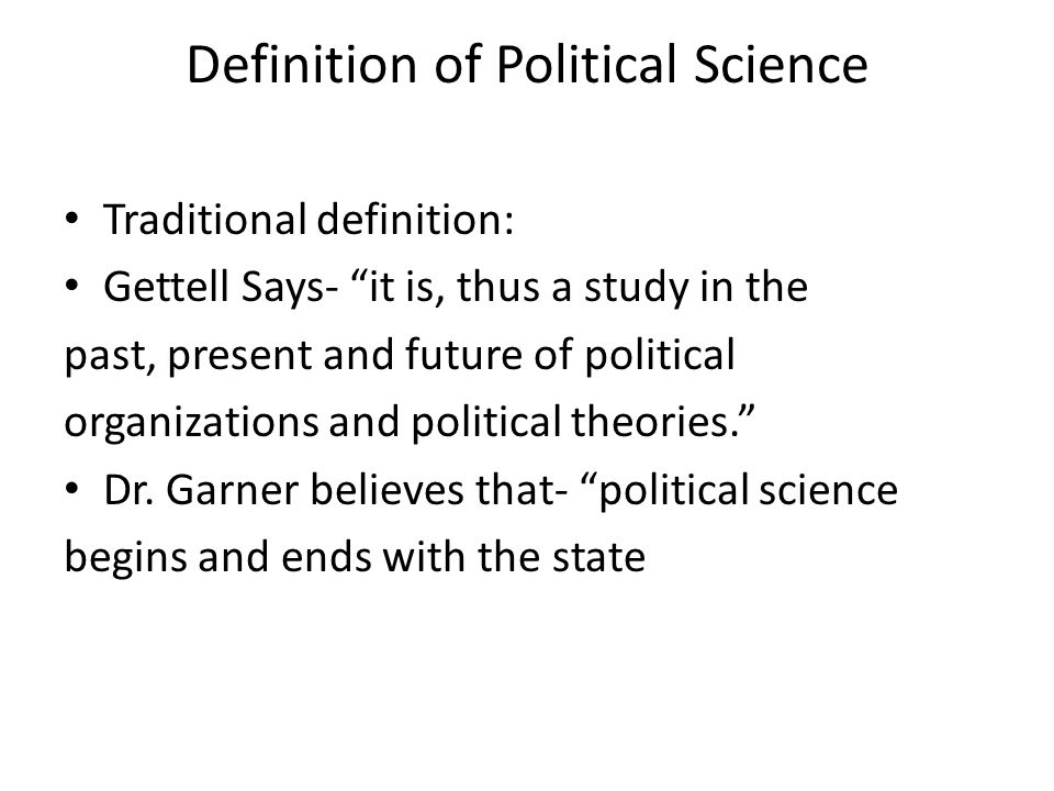 define political science and explain its scope