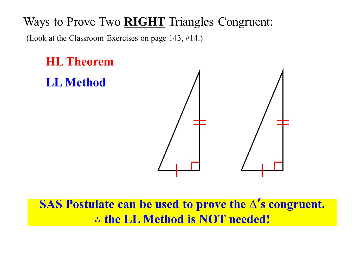 Lesson 4-5: Other Methods of Proving Triangles Congruent ...