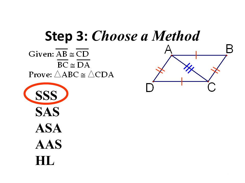 15 Step 3 Choose A Method Sss Sas Asa Aas Hl: Sss Sas Asa Aas Proofs Worksheet At Alzheimers-prions.com