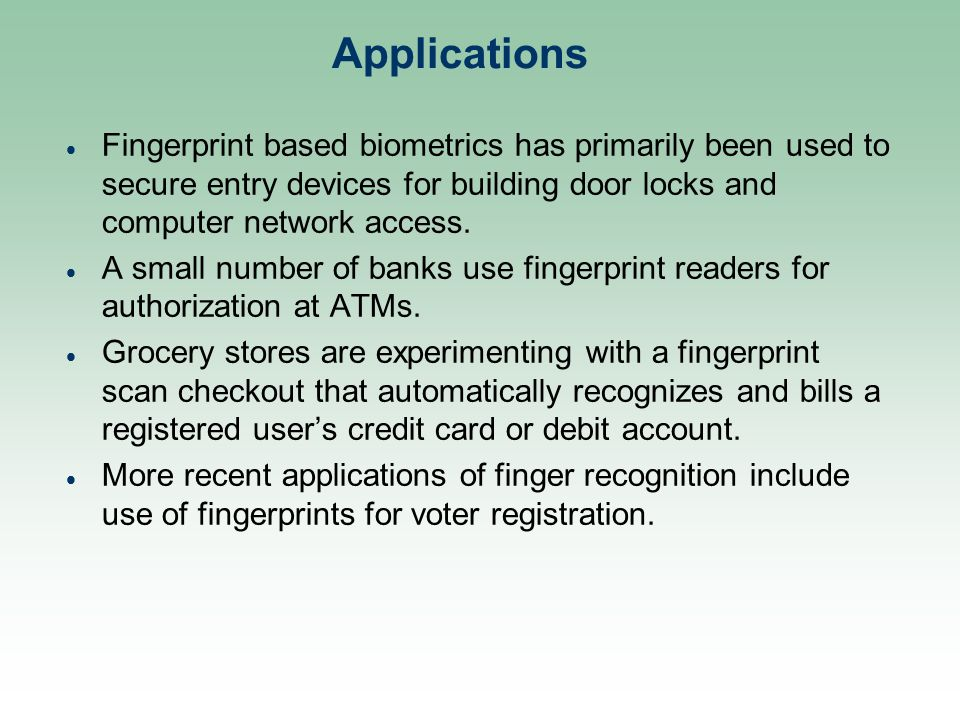 A Seminar on Fingerprint Recognition in Biometrics - ppt video