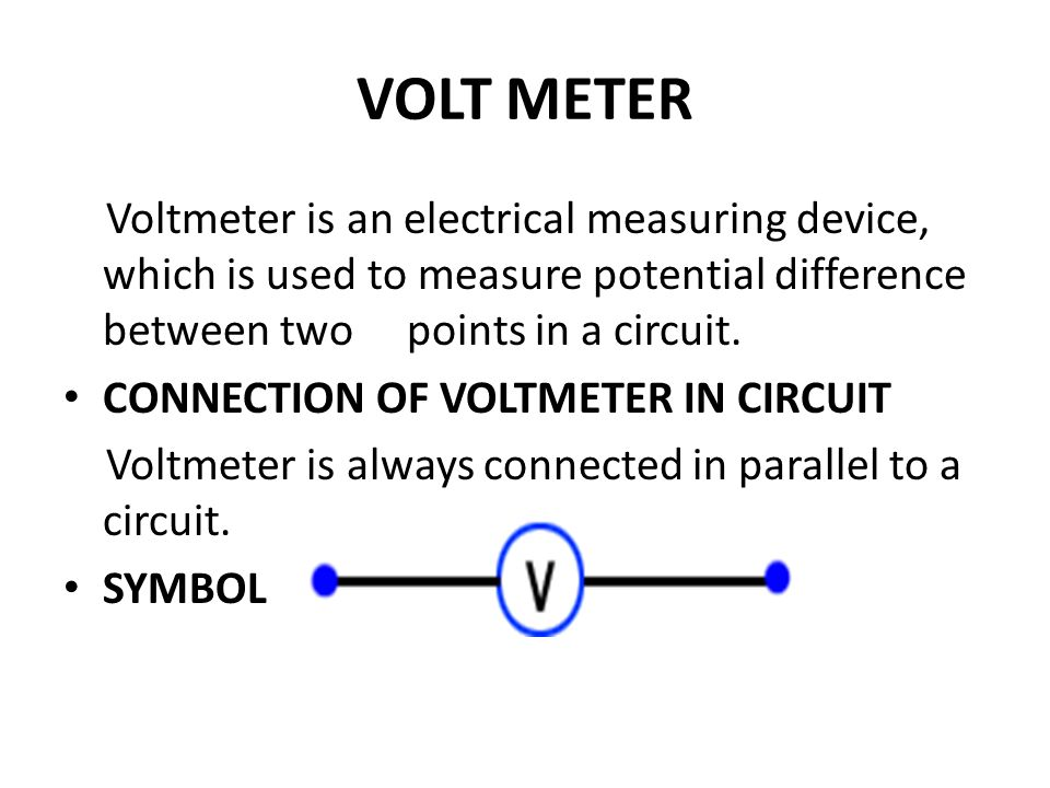 Unique Symbol For Voltmeter Pattern - Electrical and Wiring Diagram ...