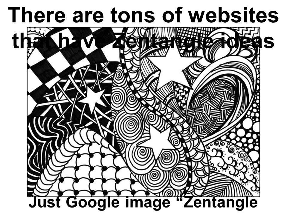 Zentangle Lines Shapes And Patterns Ppt Download Cool Zentangle Pattern Ideas