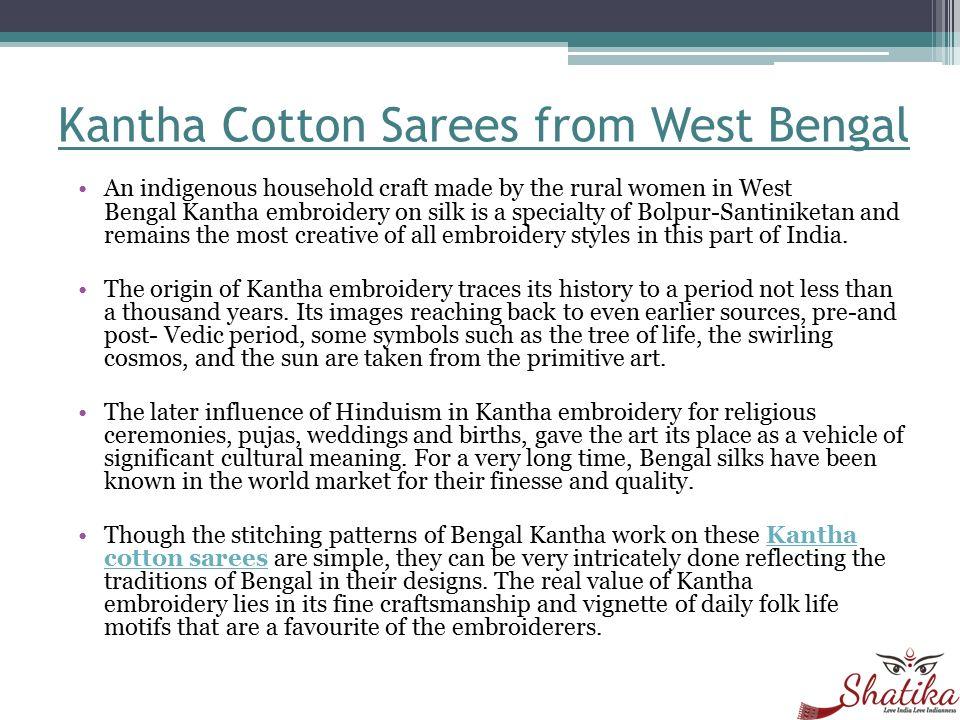 Handloom Sarees Kantha Printed Silk Sarees - ppt download