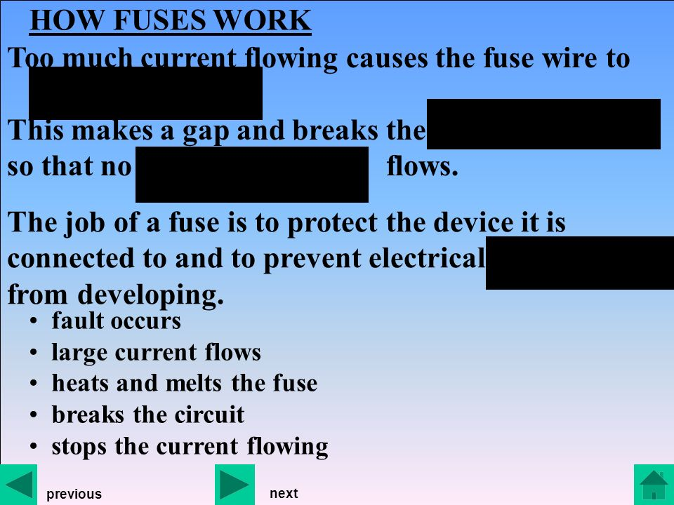 FUSES explaining how fuses work fuses and earthing choosing the ...