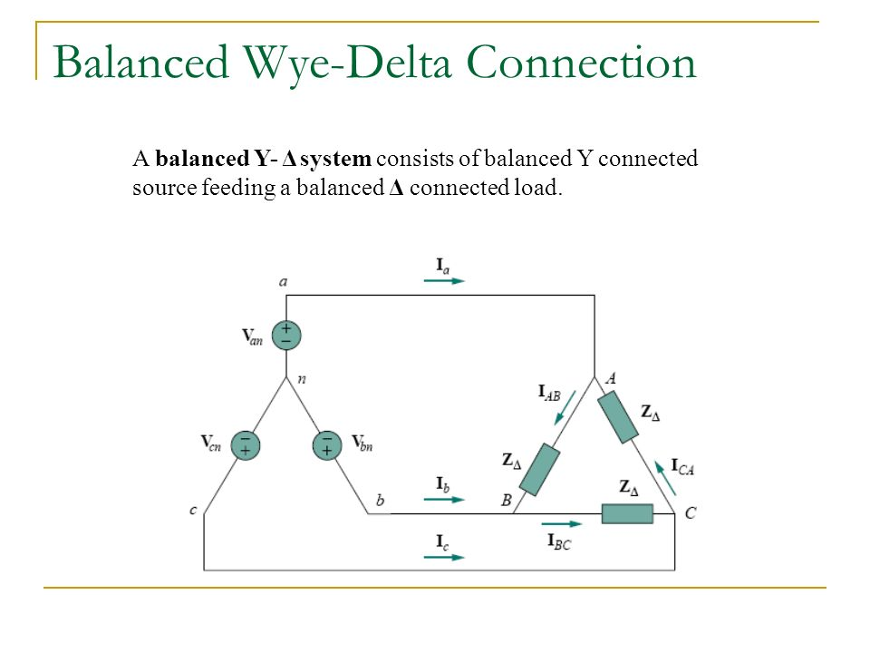 Chapter 4 three phase circuit ppt video online download balanced wye delta connection ccuart Gallery
