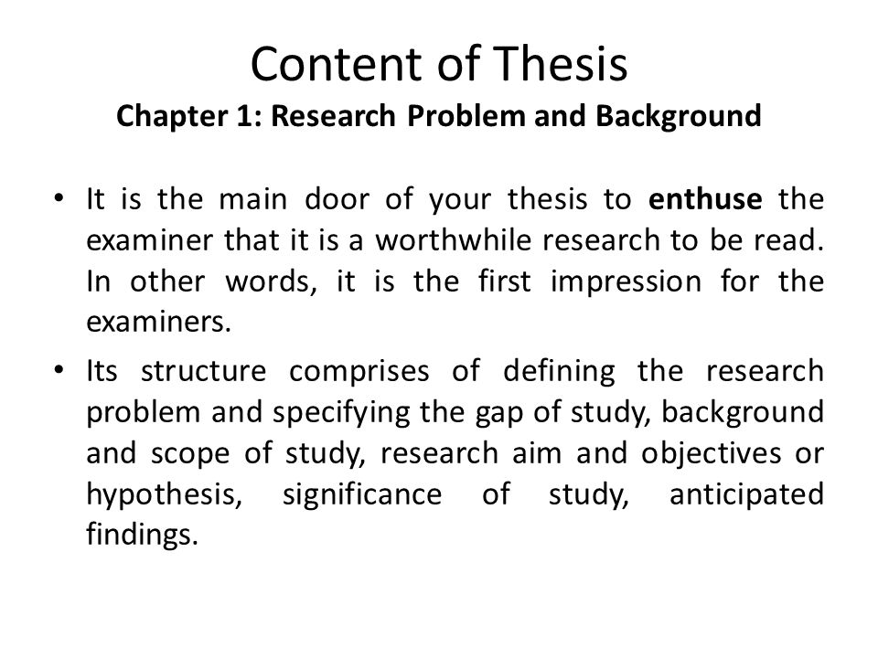 research and thesis