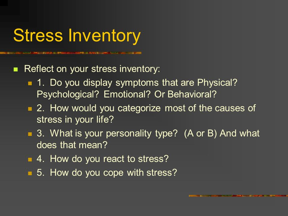 Do Now Take A Stress Worksheet From My Desk Complete The Worksheet