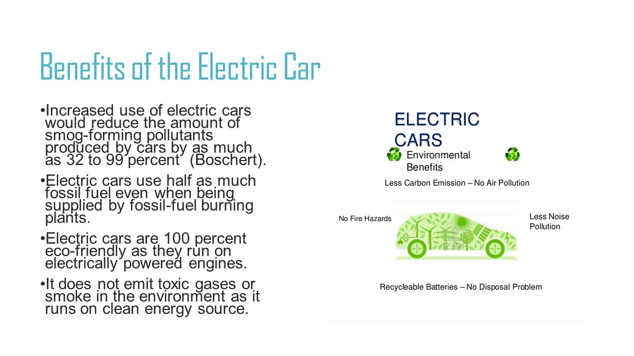 Benefits Of The Electric Car