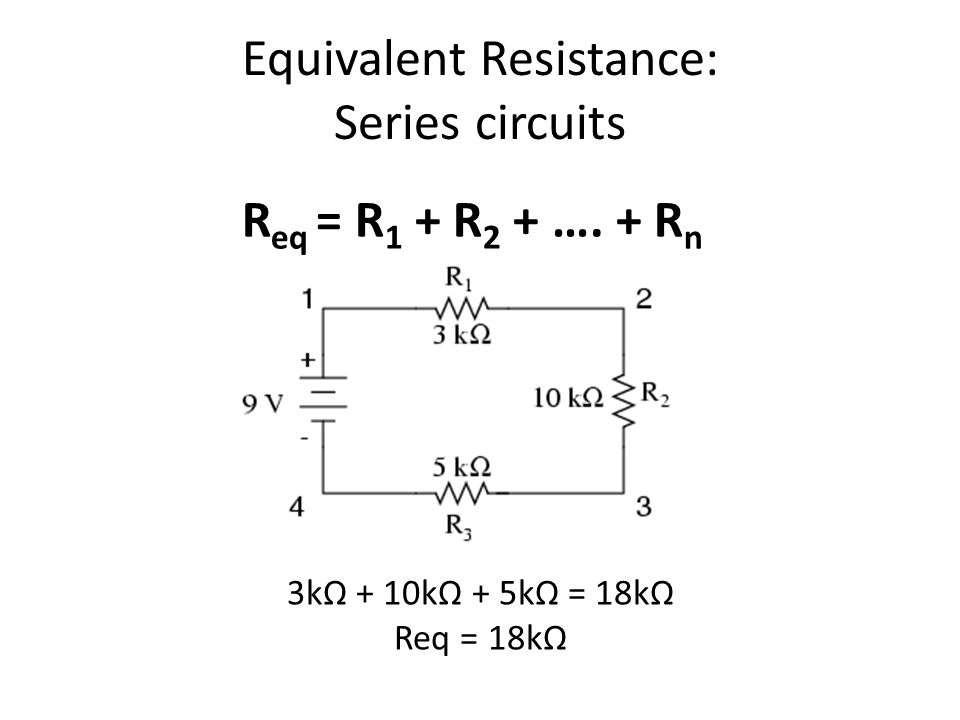 series and parallel circuits ppt video online download rh slideplayer com resistance in series circuits resistance in series circuits