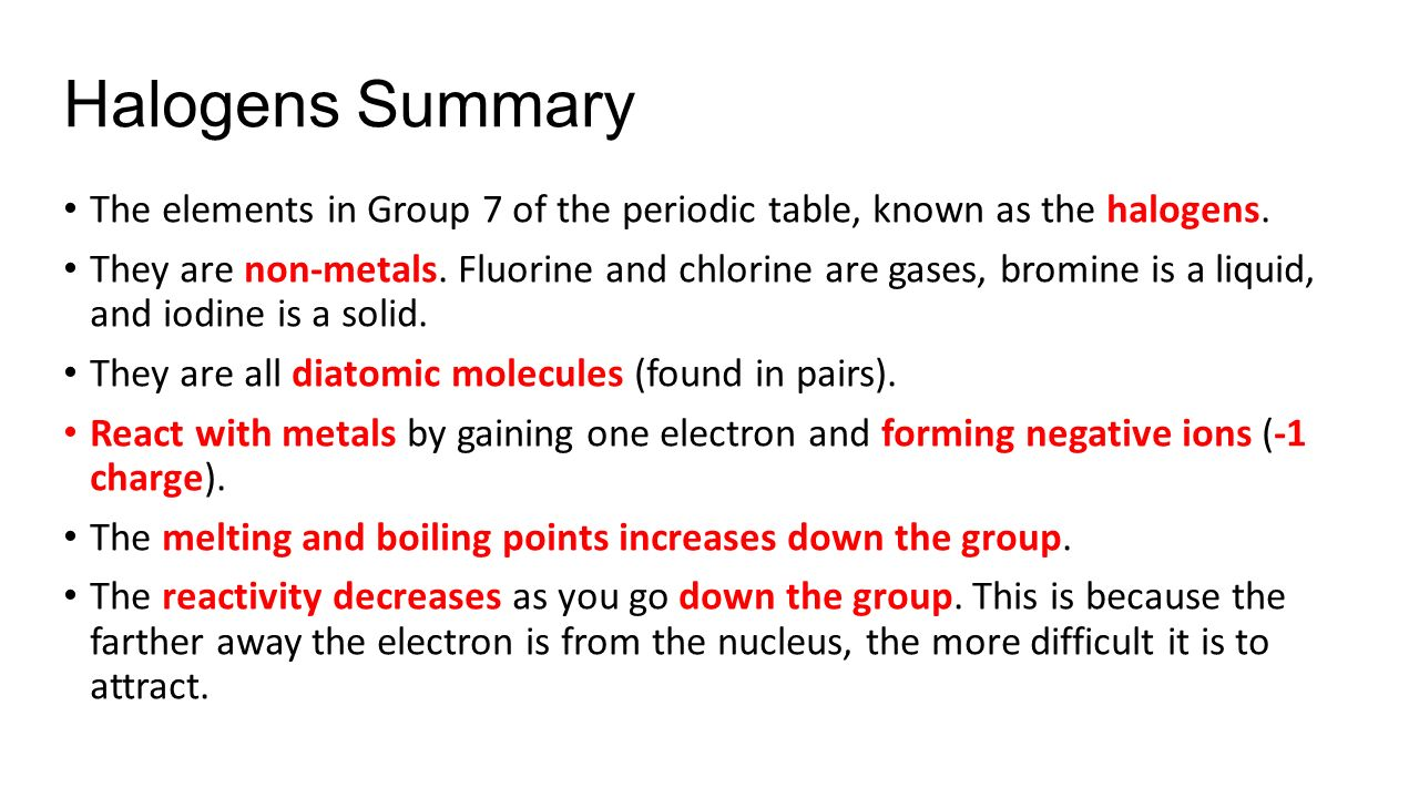 Chemical properties of group 7 elements in the periodic table periodic table quiz what is the lightest element on urtaz Choice Image