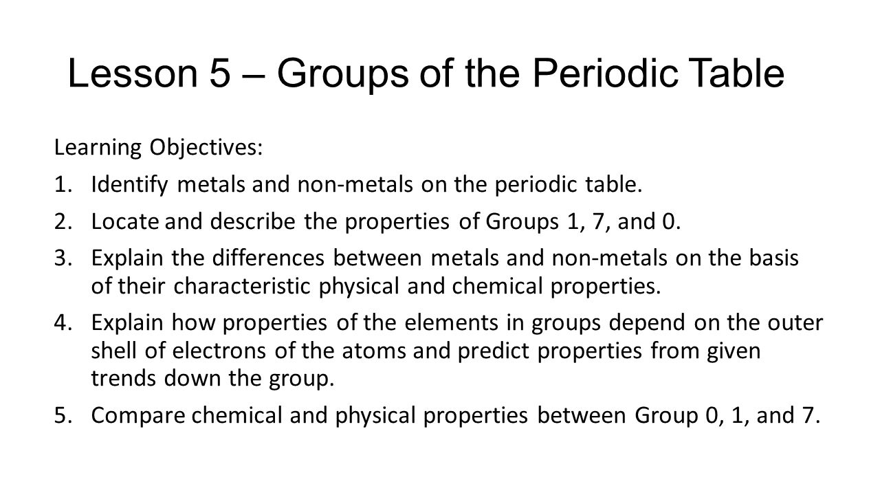 Periodic table quiz what is the lightest element on the periodic lesson 5 groups of the periodic table urtaz Image collections