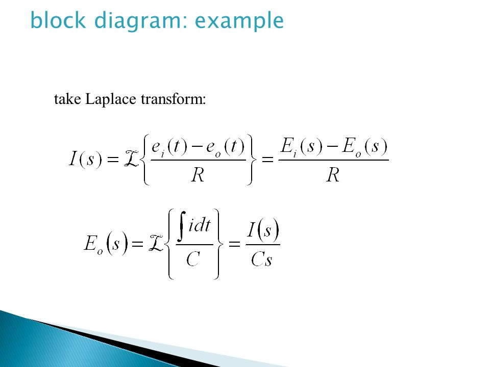 block diagram: example
