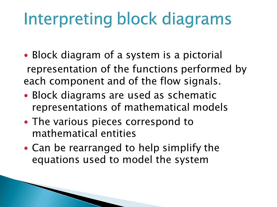 Interpreting block diagrams